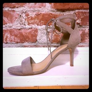Forever 21 Faux Suede Tan Heels Size 10